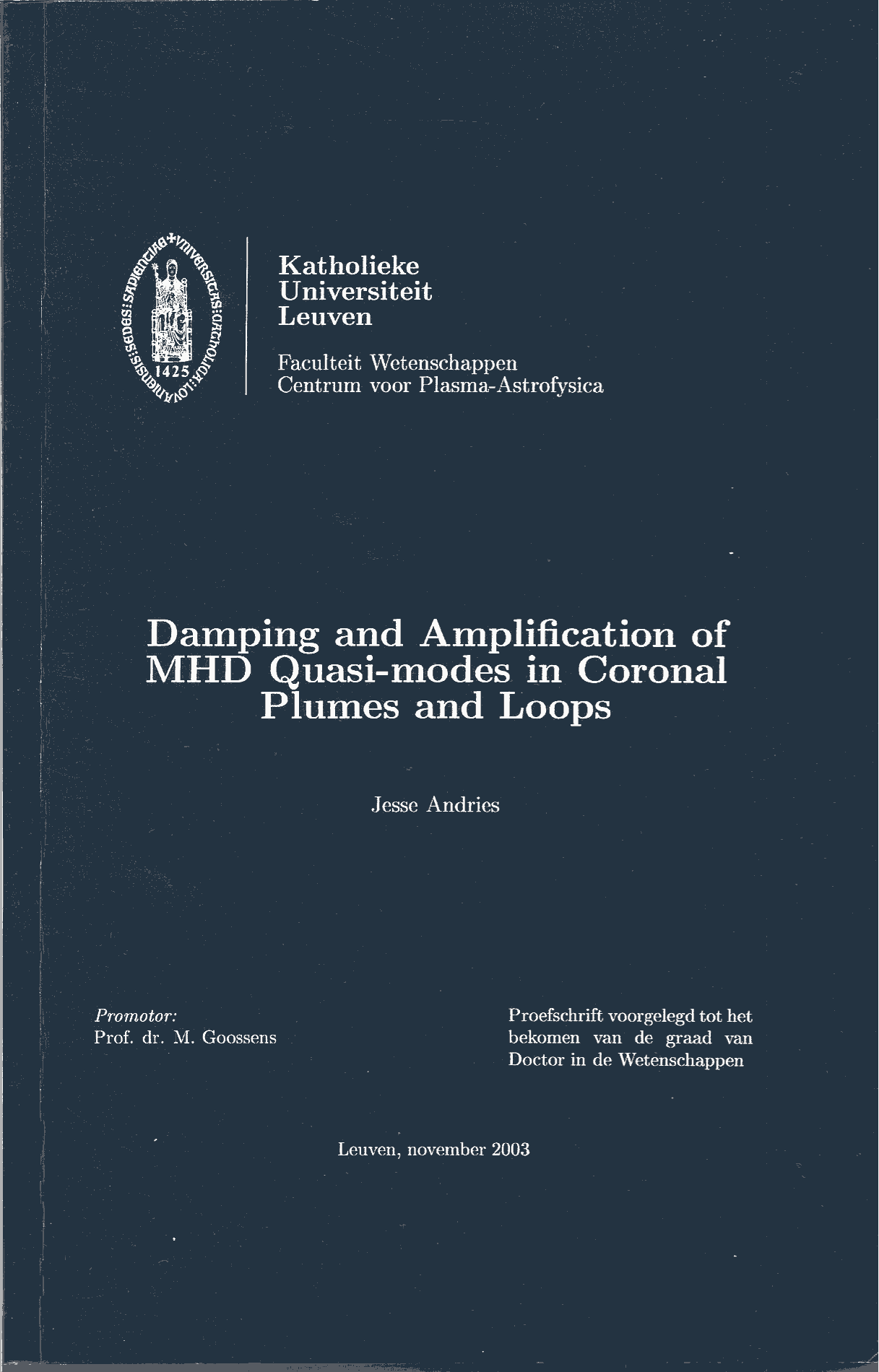 Kuleuven phd thesis