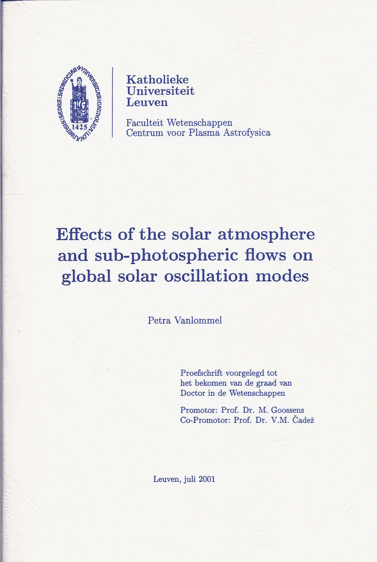 phd thesis model