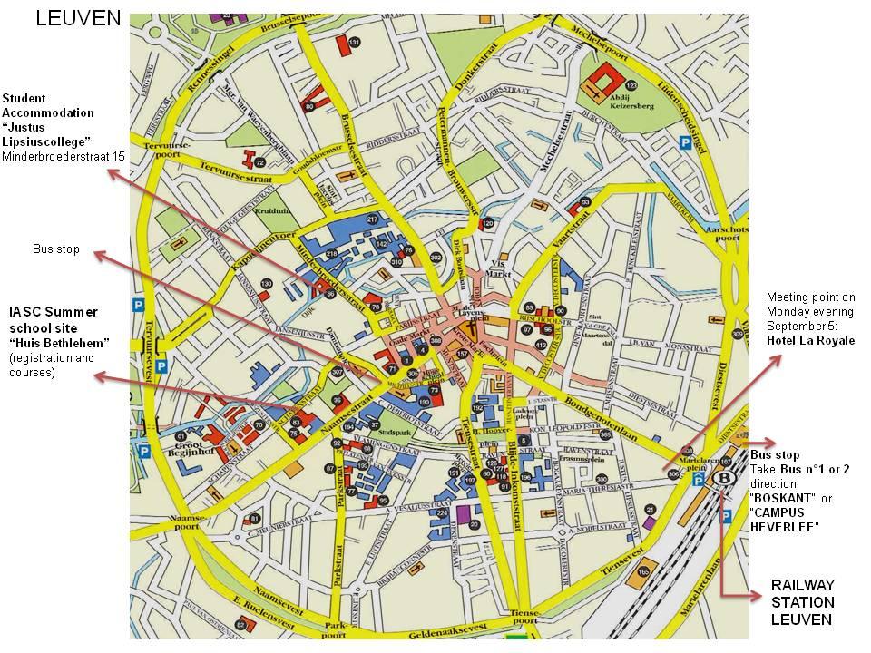 ku leuven campus map Venue Iasc2011 ku leuven campus map