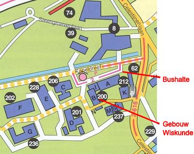 ku leuven campus map Campus Map Met Bushalte En Wiskunde Department Of Mathematics ku leuven campus map